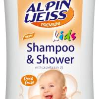 Children's Hair Shampoo + Shower Gel  Alpinweiss Papaya Mango 300 ml